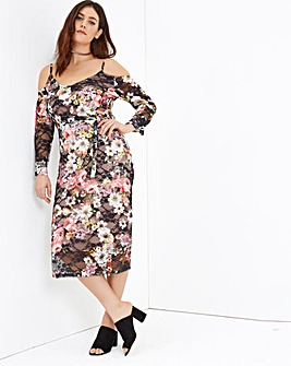 Girls On Film Print Midi Dress