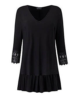 Grace crocheted trim tunic