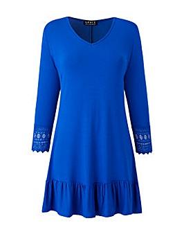 Grace crocheted trim tunic