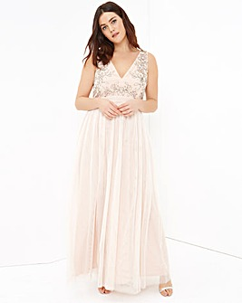 Little Mistress Peach Maxi Dress