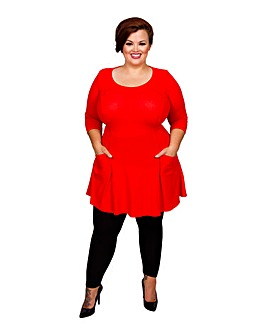 Scarlett & Jo Pocket Fit and Flare Tunic
