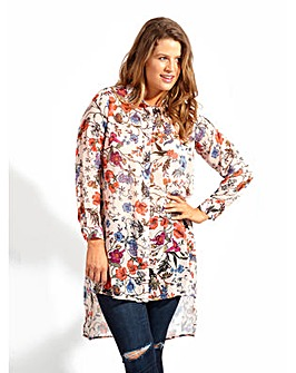 Koko Floral Print Longline Shirt