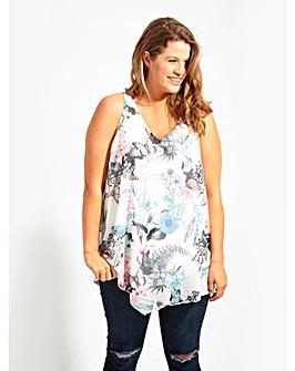 Koko Ivory Butterfy Print Vest