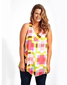 Koko Pink Cube Print Vest