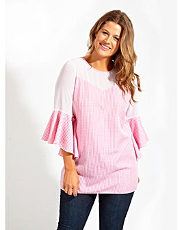 Lovedrobe GB Pink Gingham Blouse