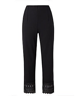 Grace Trouser with crocheted trim hem