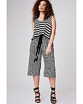 Elvi Striped Culotte Jumpsuit