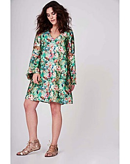 Elvi Floral Print Gypsy Dress