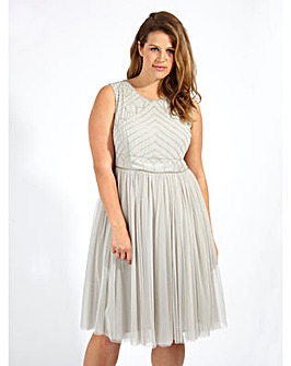 Lovedrobe Luxe Embellished  Tulle Dress