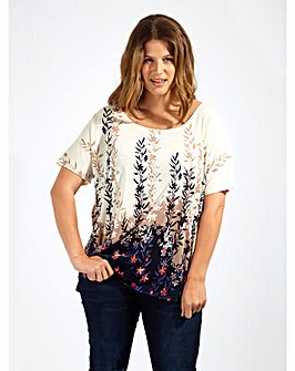 Lovedrobe GB Cream Floral Tunic