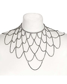 Mood Diamante Statement Cape Necklace