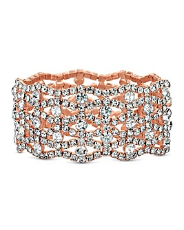 Mood Diamante Wave Cuff