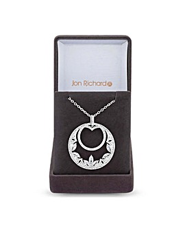 Jon Richard Double Circle Long Necklace