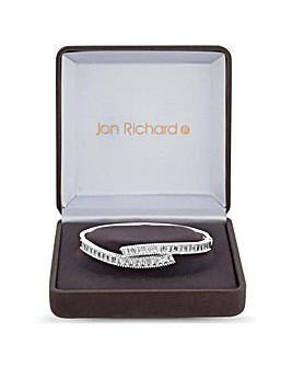 Jon Richard Cubic Zirconia Twist Bangle