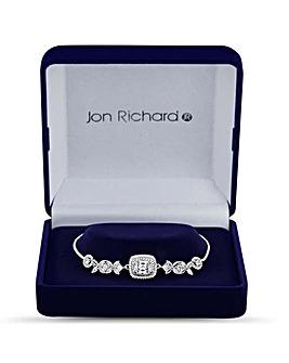Jon Richard Floral Leaf Toggle Bracelet