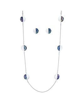 Mood Multi Tone Disc Jewellery Set