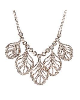 Mood Diamante Leaf Drop Necklace