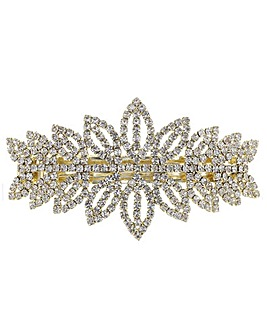 Mood Diamante Leaf Hair Clip