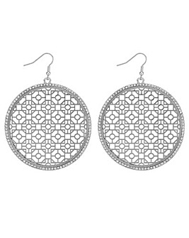 Mood Large Cut Out Disc Earring