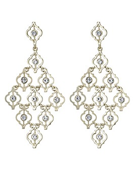 Mood Ornate Crystal Chandelier Earring