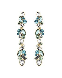 Jon Richard Tonal Green Crystal Earring