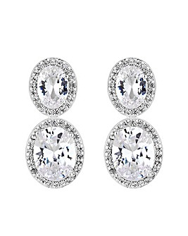 Jon Richard Oval Halo Earring