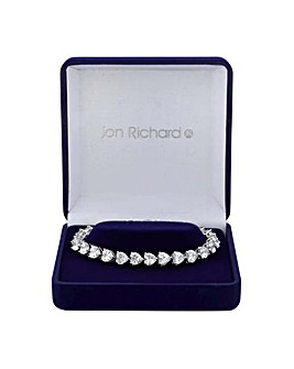 Jon Richard Graduated Heart Bracelet