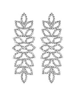 Mood Crystal Leaf Chandelier Earring
