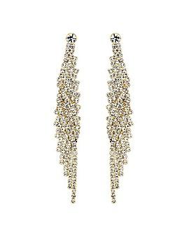 Mood Diamante Twist Drop Earring