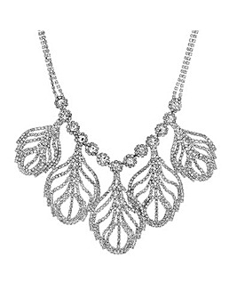 Mood Diamante Leaf Drop Necklace
