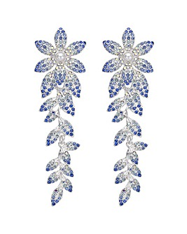 Mood Crystal Flower Drop Earring