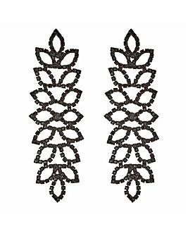Mood Diamante Leaf Earring