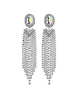Mood Oval Crystal Diamante Drop Earring