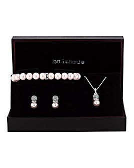 Jon Richard Pearl Pave Jewellery Set
