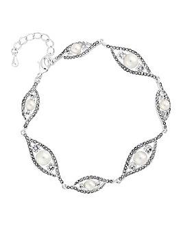 Jon Richard Navette Pearl Bracelet