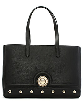 Versace Jeans Faux Leather Studded Tote