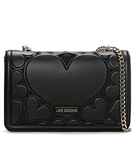 Love Moschino Large Heart Cross-Body Bag
