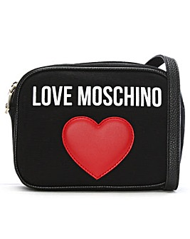 Love Moschino Canvas Heart Camera Bag