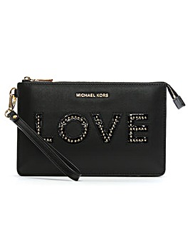 Michael Kors Love Wristlet Clutch Bag