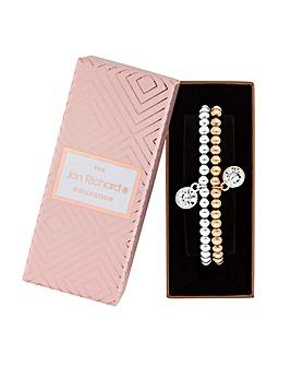 Jon Richard Crystal Charm Bracelet Set