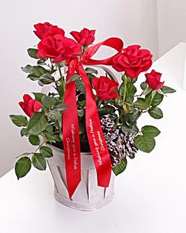 Personalised Rose Gift Basket