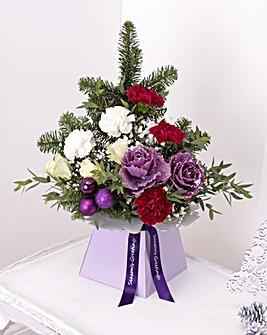 Personalised Christmas Calypso Vase