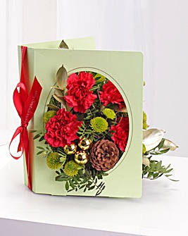 Personalised Floral Christmas Card