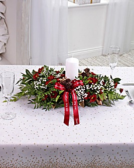Red Large Table Arrangement