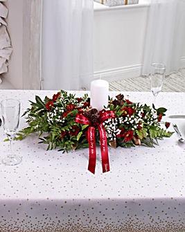 Red Large Table Arrangement