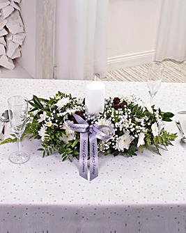 White Large Table Arrangement