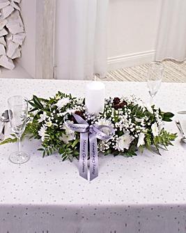 White Large Table Arrangement
