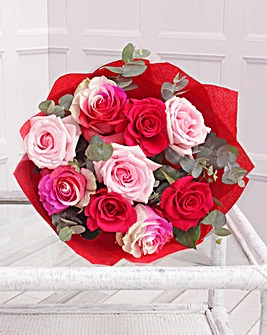 Romantic Rainbow Bouquet