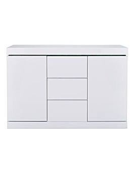 Halo Gloss 2 Door 3 Drawer Sideboard