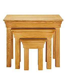Malvern Oak and Oak Veneer Nest Tables